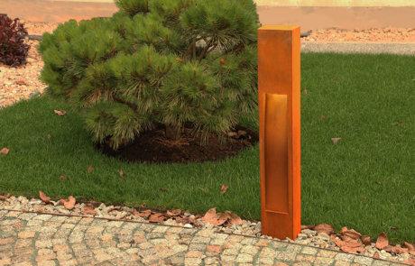 Zahradní osvětlení z corten oceli